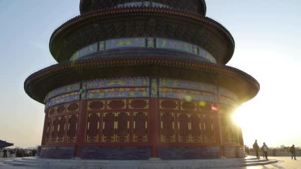 Čína-Říjen 08, 2017:Temple nebe v královské starověké architektury si Beijing.China v západu slunce shinin