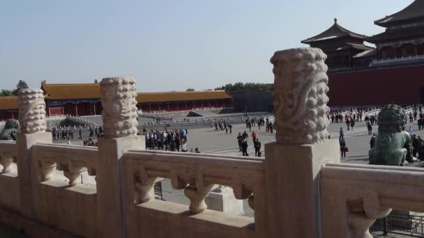 Kína-szeptember 08, 2017:dragon  felhő faragás totem a tiltott város, kínai királyi építészet.