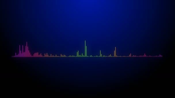 4k Musik Rhythmus Grafik, Audio-Equalizer, Audio-Spektrum Glühsimulation Verwendung für m
