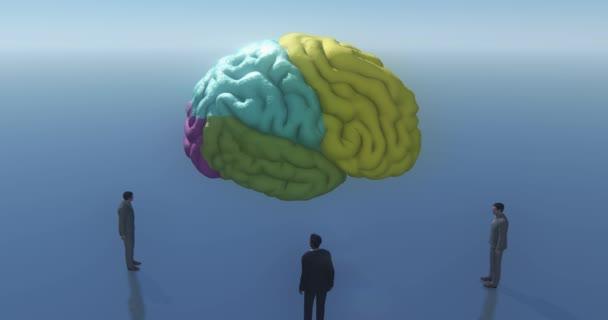 4k emberi nézek ki, hogy az agy, a mesterséges intelligencia, az absztrakt jövőbeli tech.