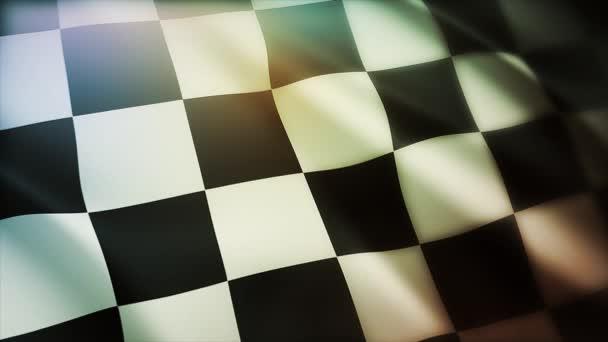 4k Karo Race Flag Seidenstoff flatternd Check Racing Fahnen, wehendes Tuch.
