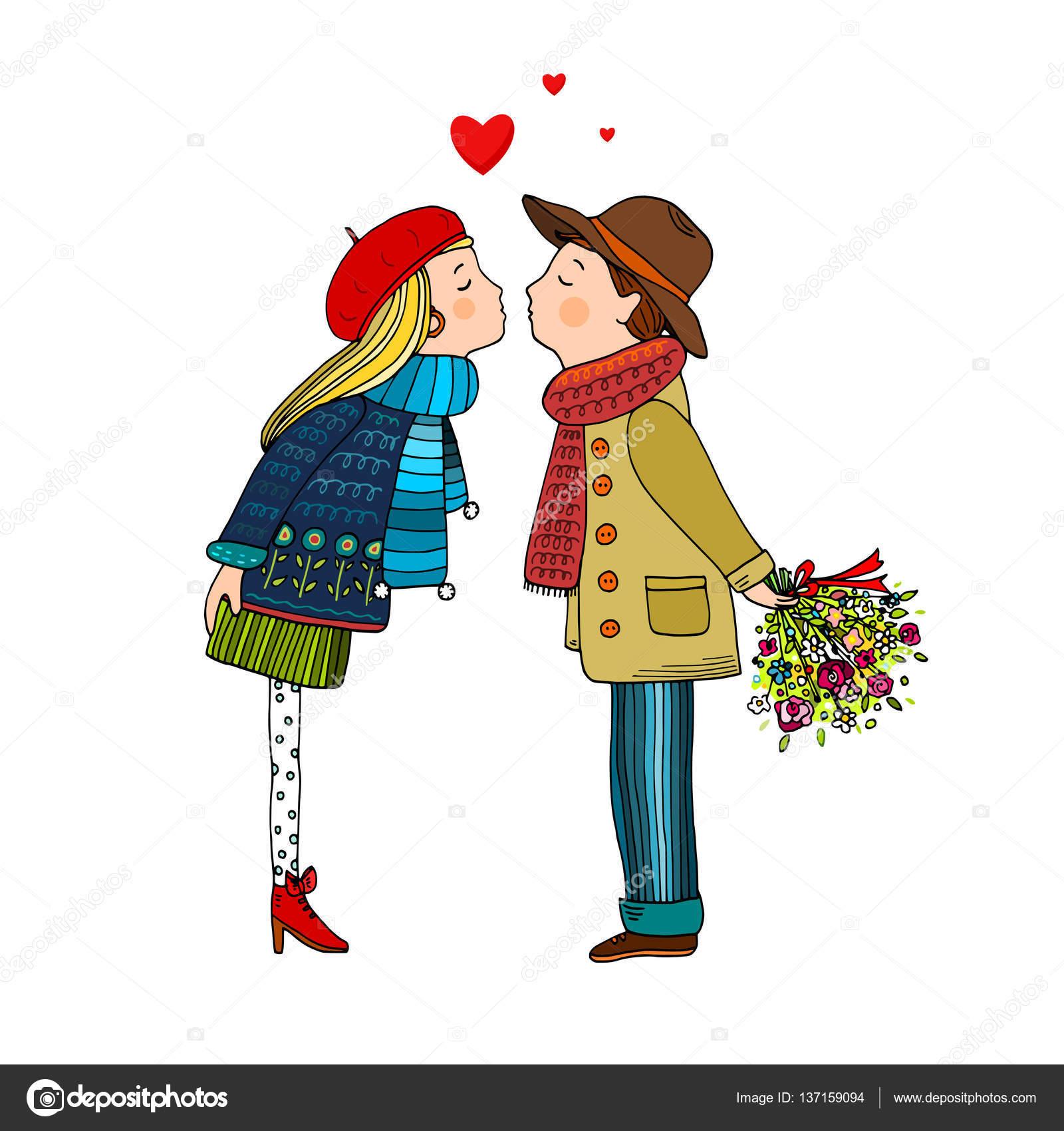 картинки пары влюбленные нарисованные