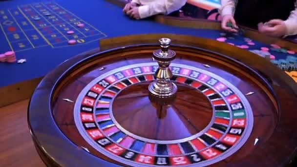 Ruleta kolo běží v kasinu, Poker Chips.Classic kasino ruleta kolo
