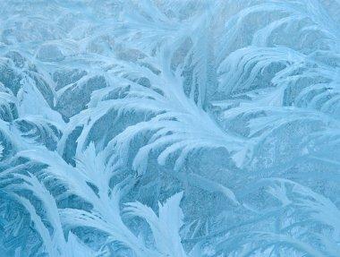 fractal blue ice winter decoration