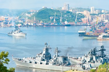 russian pacific navy fleet at  Vladivostok