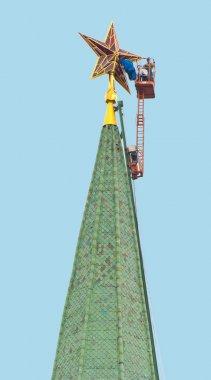 repairs of russian Kremlin rubin star