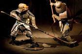 Samurai warriors in reconstruction