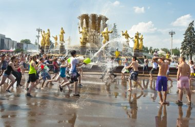 Water Wars flash-mob, Moscow, Russia