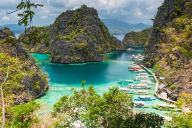 View of Kayangan Lake lagoon on Coron island, Busuanga Palawan