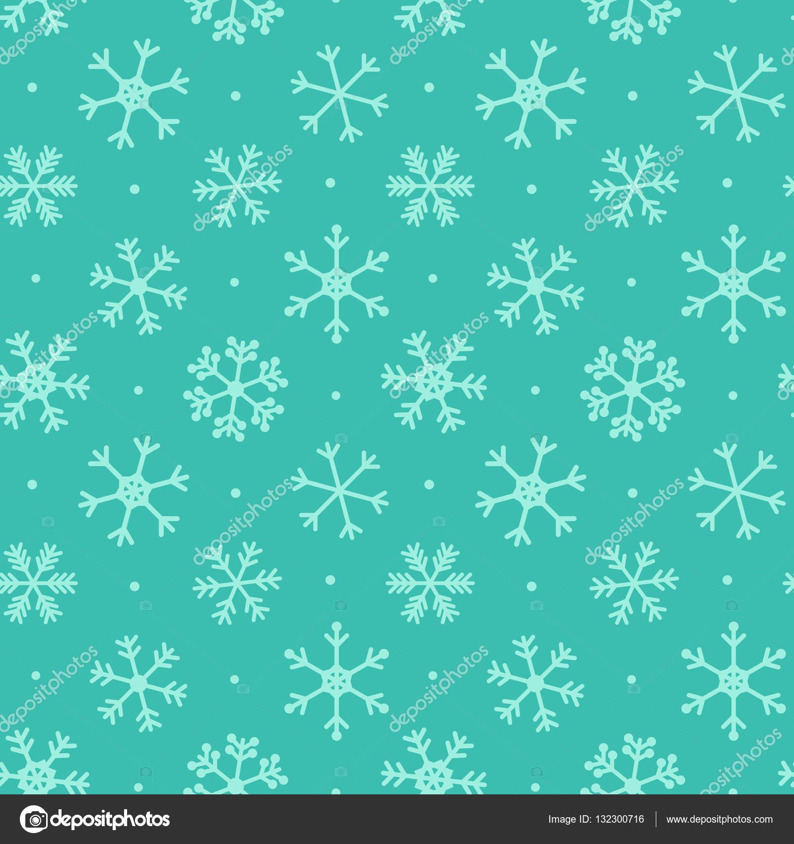 Navidad, invierno sin fisuras de fondo con lindos copos de nieve y ...