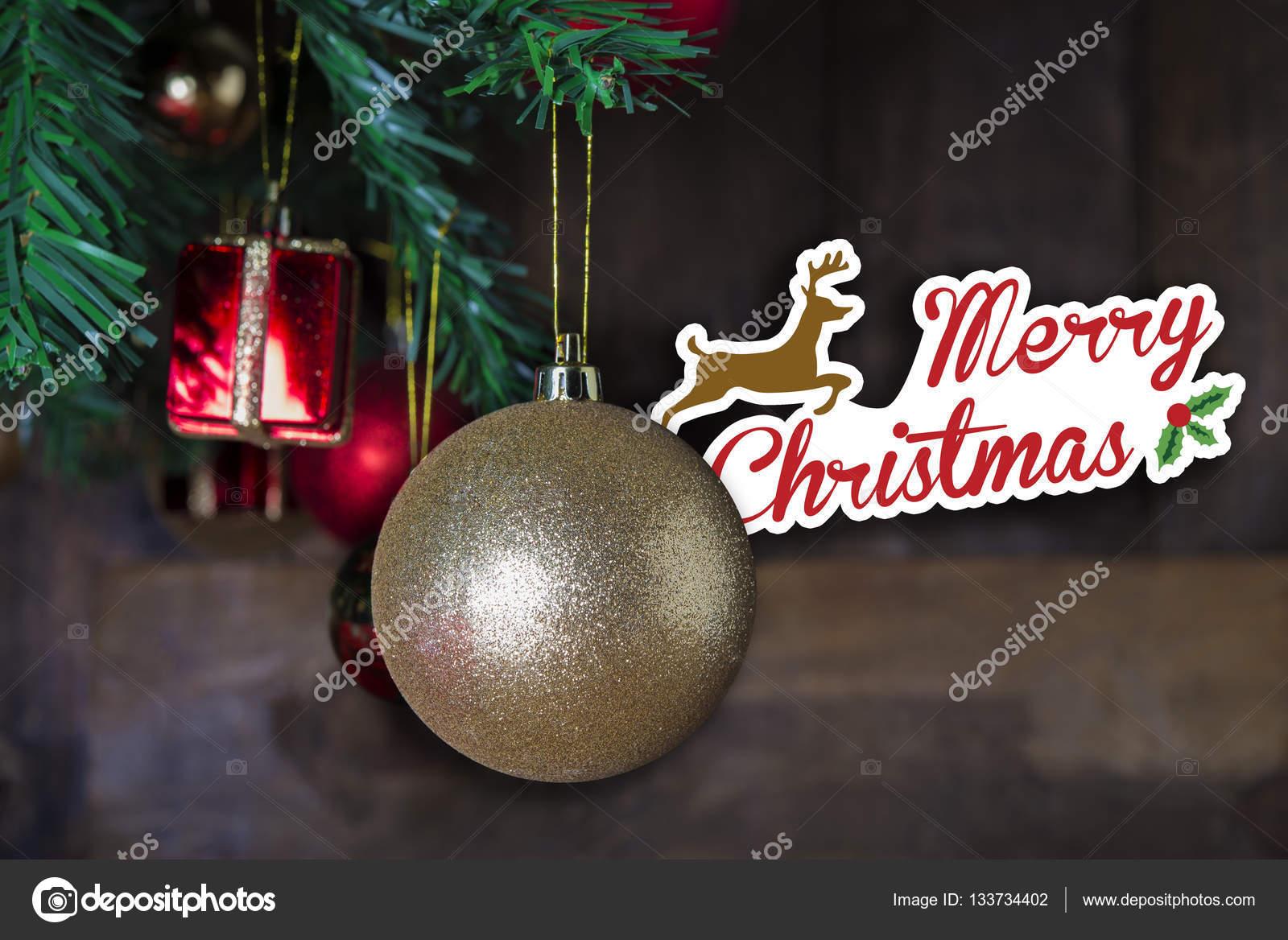 Christmas Greeting Postcard With Template Merry Christmas Stock