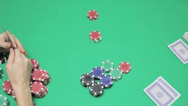 Spieler macht eine Wette, Texas poker