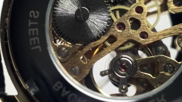 Transparent wrist watch closeup
