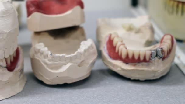 Desk dental prosthetist, dentures, dental jaw
