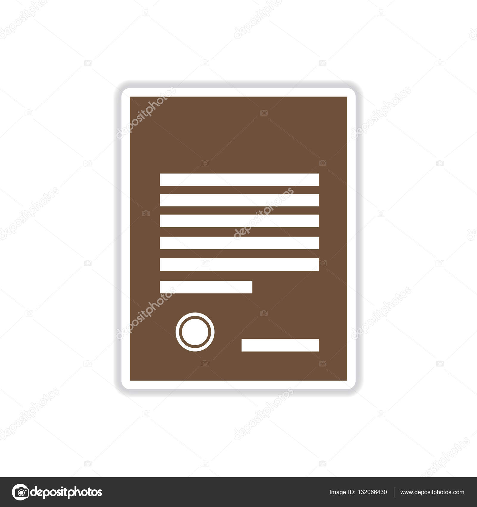 paper sticker on white background legal document stock vector