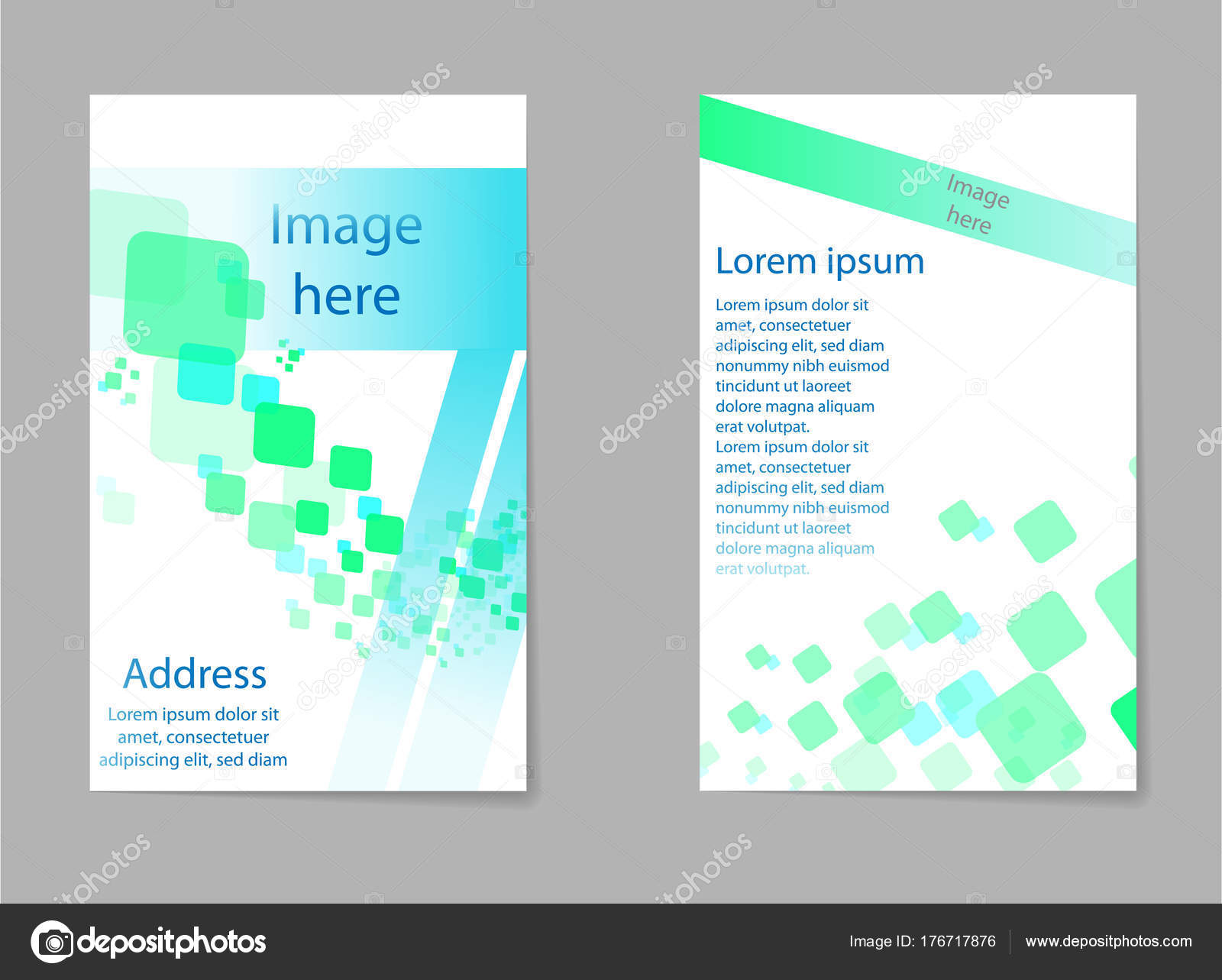 Abstract composition, business card set, box block text frame ...