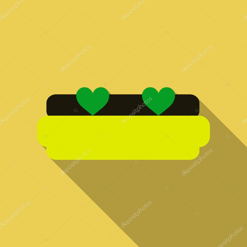 Heart Sofa icon - Vector