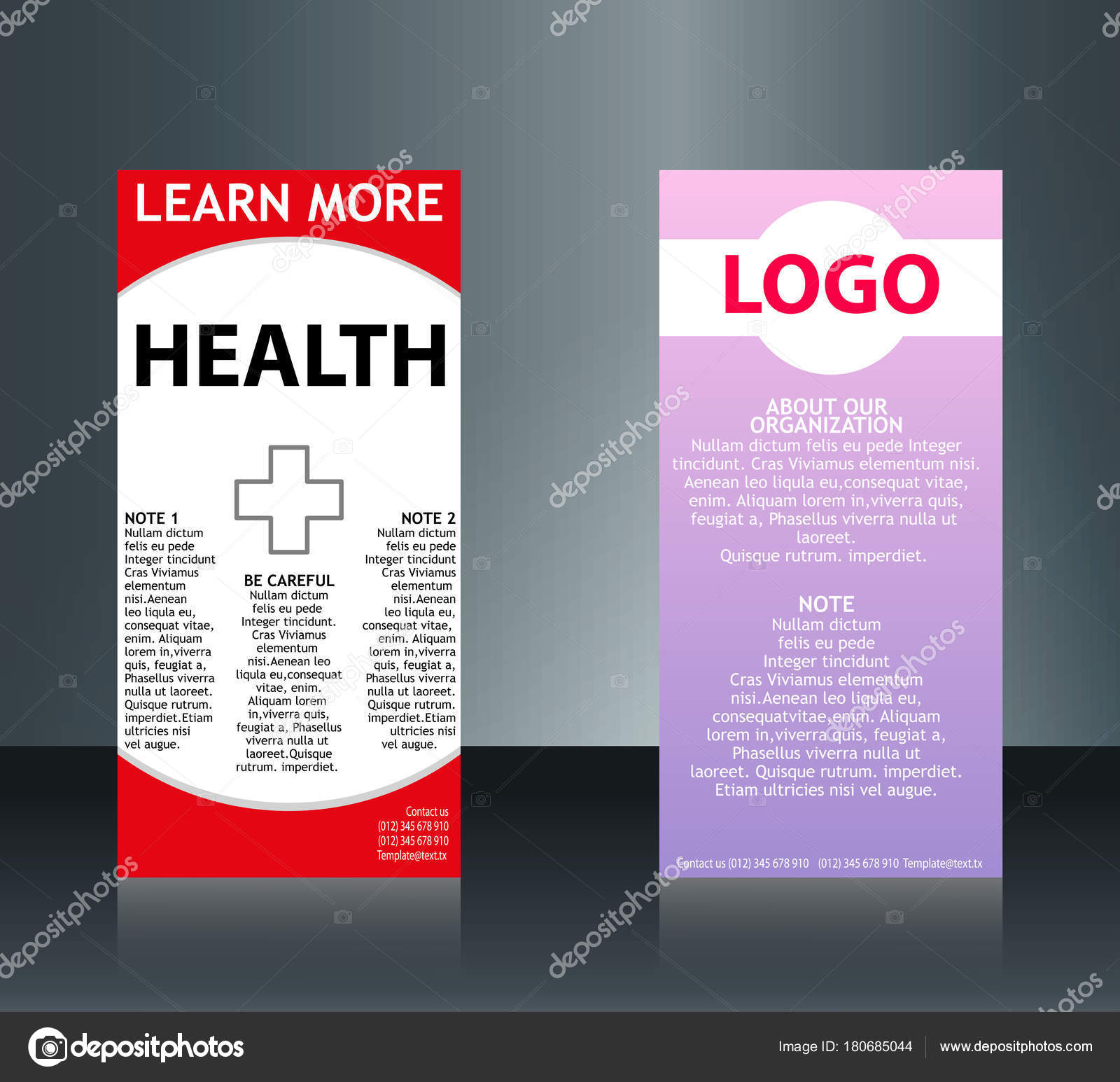 Collection De 2 Cartes Visite Medicales Abstraites Ou Sur Un Sujet Different Organiser En Horizontal EPS 10 Illustration Stock
