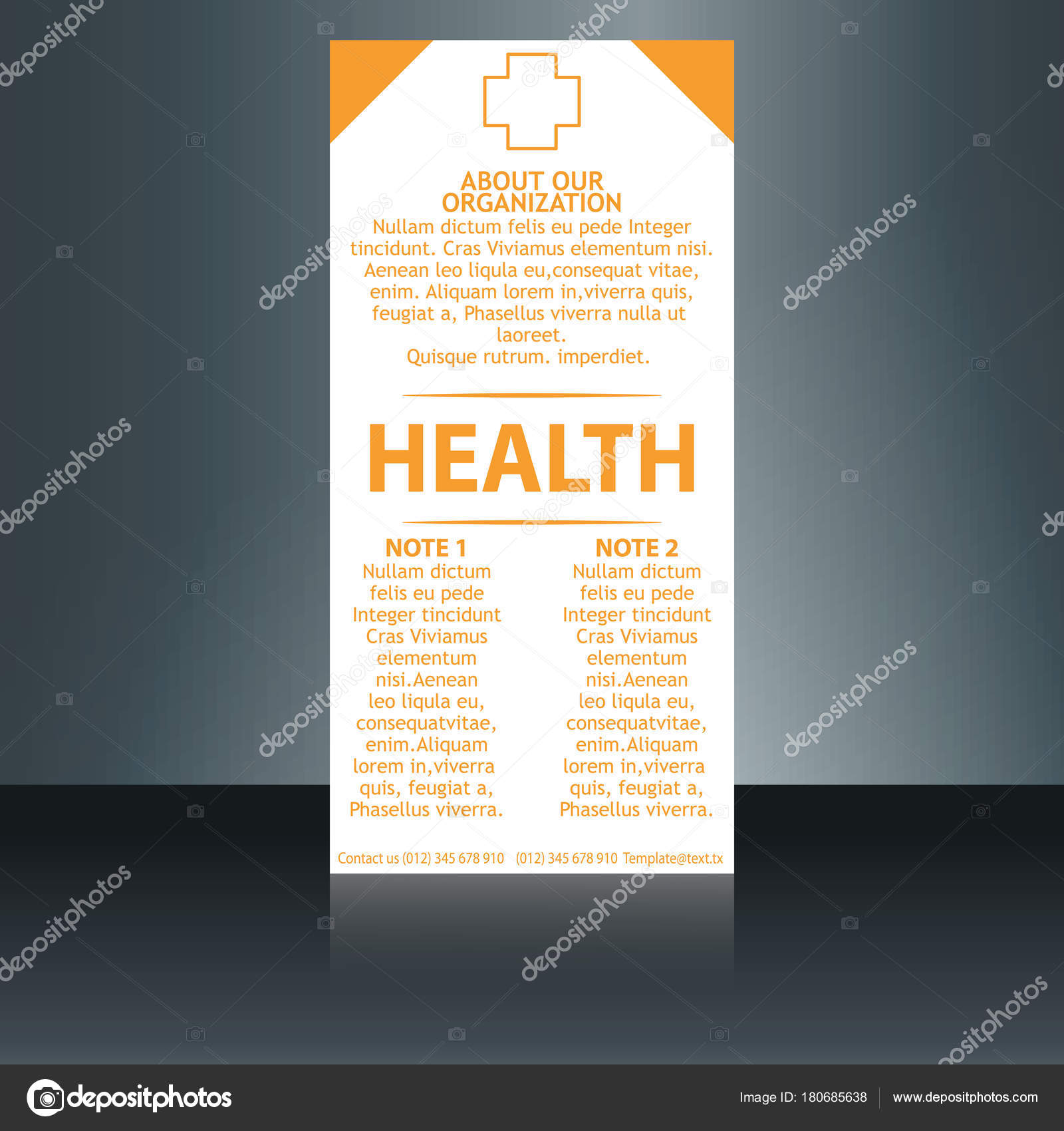 medical brochure cover template flyer design layout applicable for