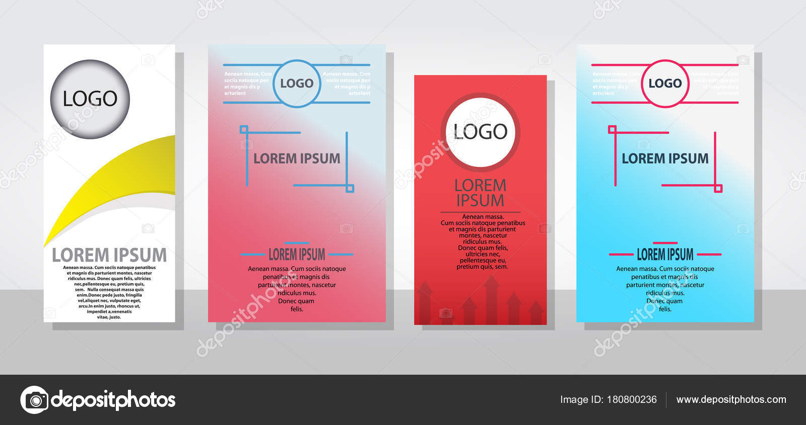 set of posters flyers pamphlet brochure cover design layout with