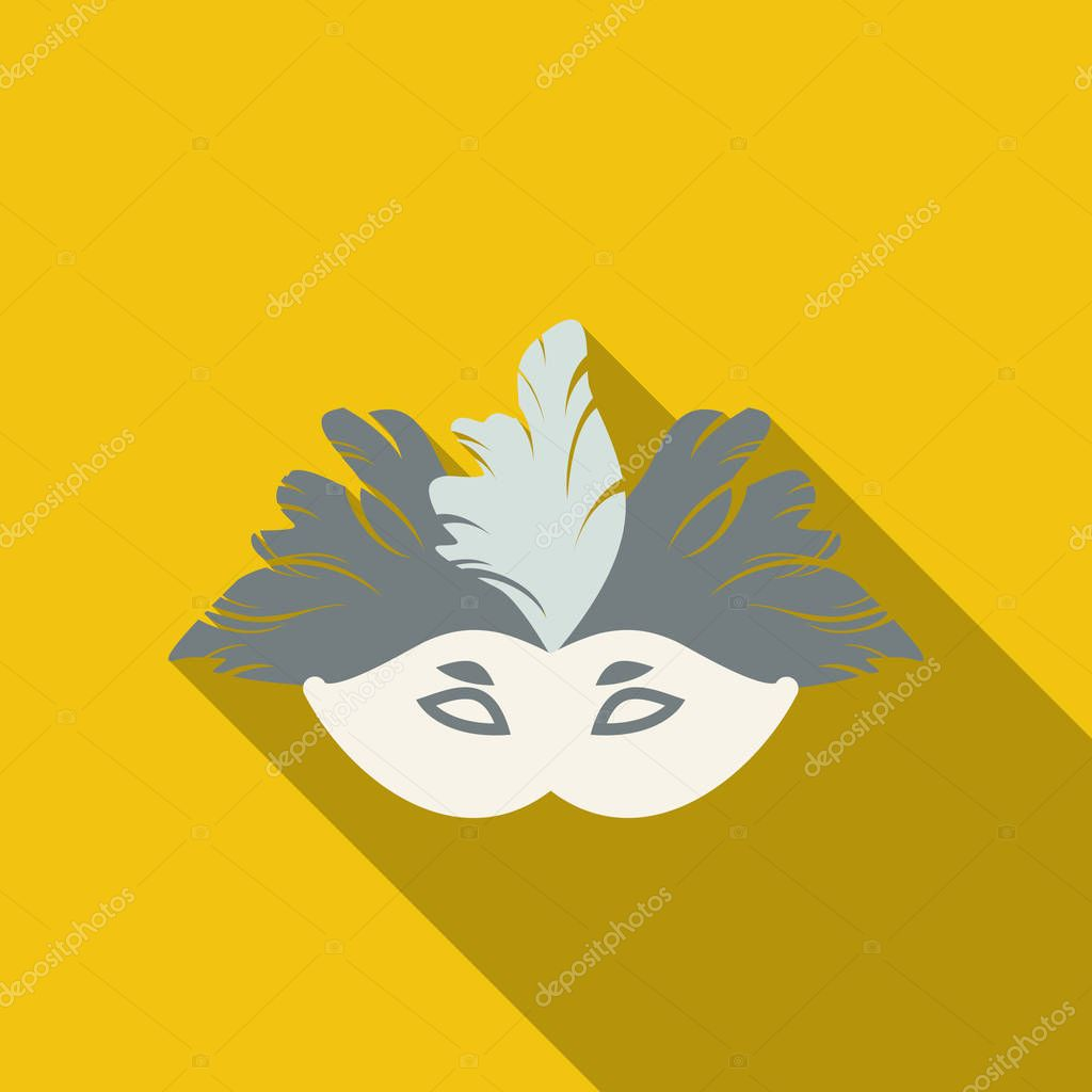 Carnival, masquerade, party and festive accessories. Mask in the form of a silhouette of the face, with decorative patterns and ornaments. Masquerade colorful masks.