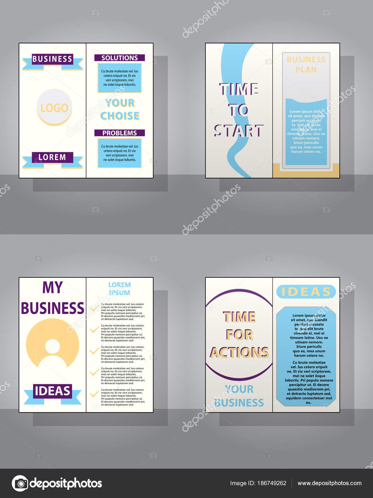 Business presentation slides templates from infographic elements ...