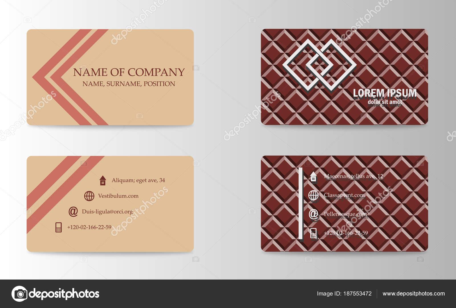 Business-Vektor Karte kreatives Design, islamischen Stil, Vorder ...