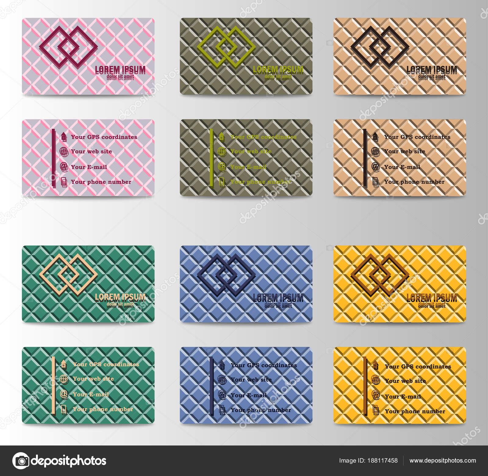 a56e8c161 Conjunto de cartões de identificação pessoal horisontal com elementos de  identificação