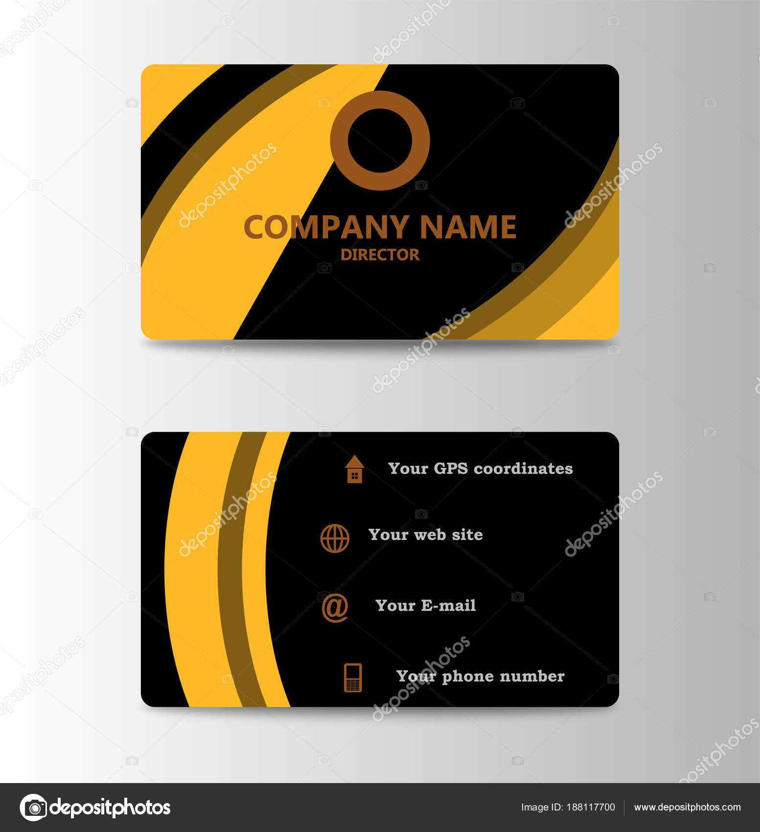 Corporate ID Card Design Template. Personal id card for business and ...