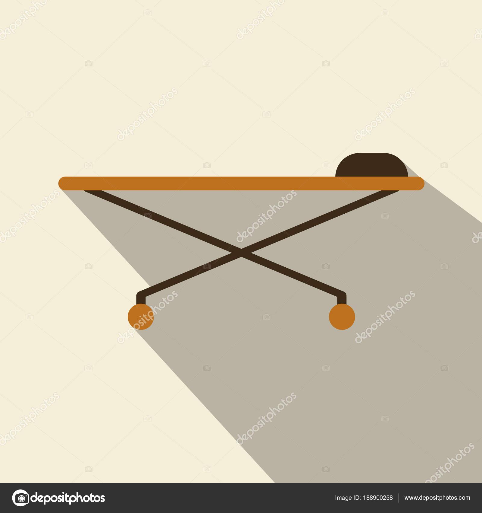 Icono de la cama del hospital. diseño del marco. Ilustración de ...