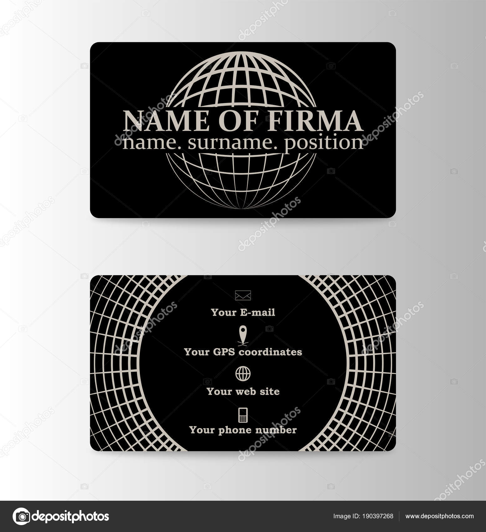 Dark business card template stock vector gorovits 190397268 dark business card template stock vector colourmoves