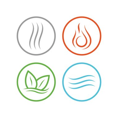 Four vector elements icons.