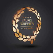 Photo Gold, silver, bronze laurel wreath.
