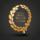 Photo Gold, silver, bronze laurel wreath.