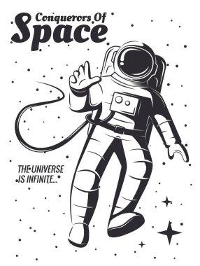 Vector astronaut Illustration.