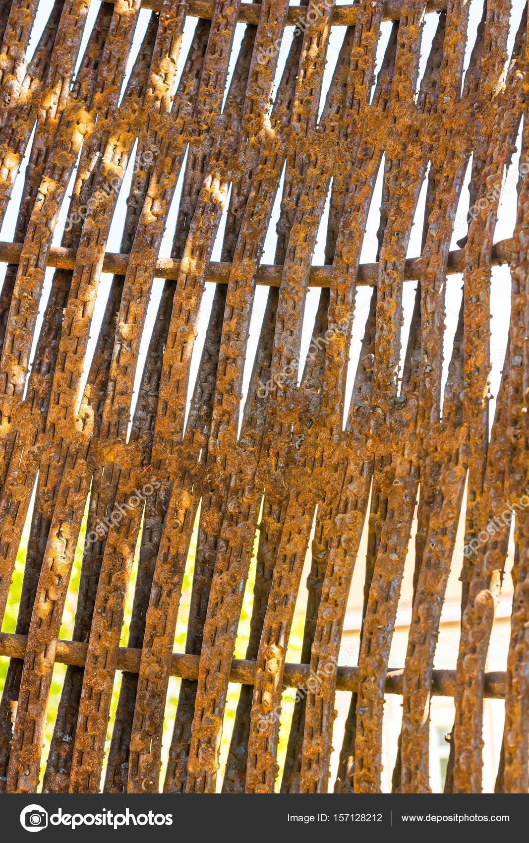 Alten Rostigen Zaun Nahaufnahme Textur Stockfoto C Tamascsere