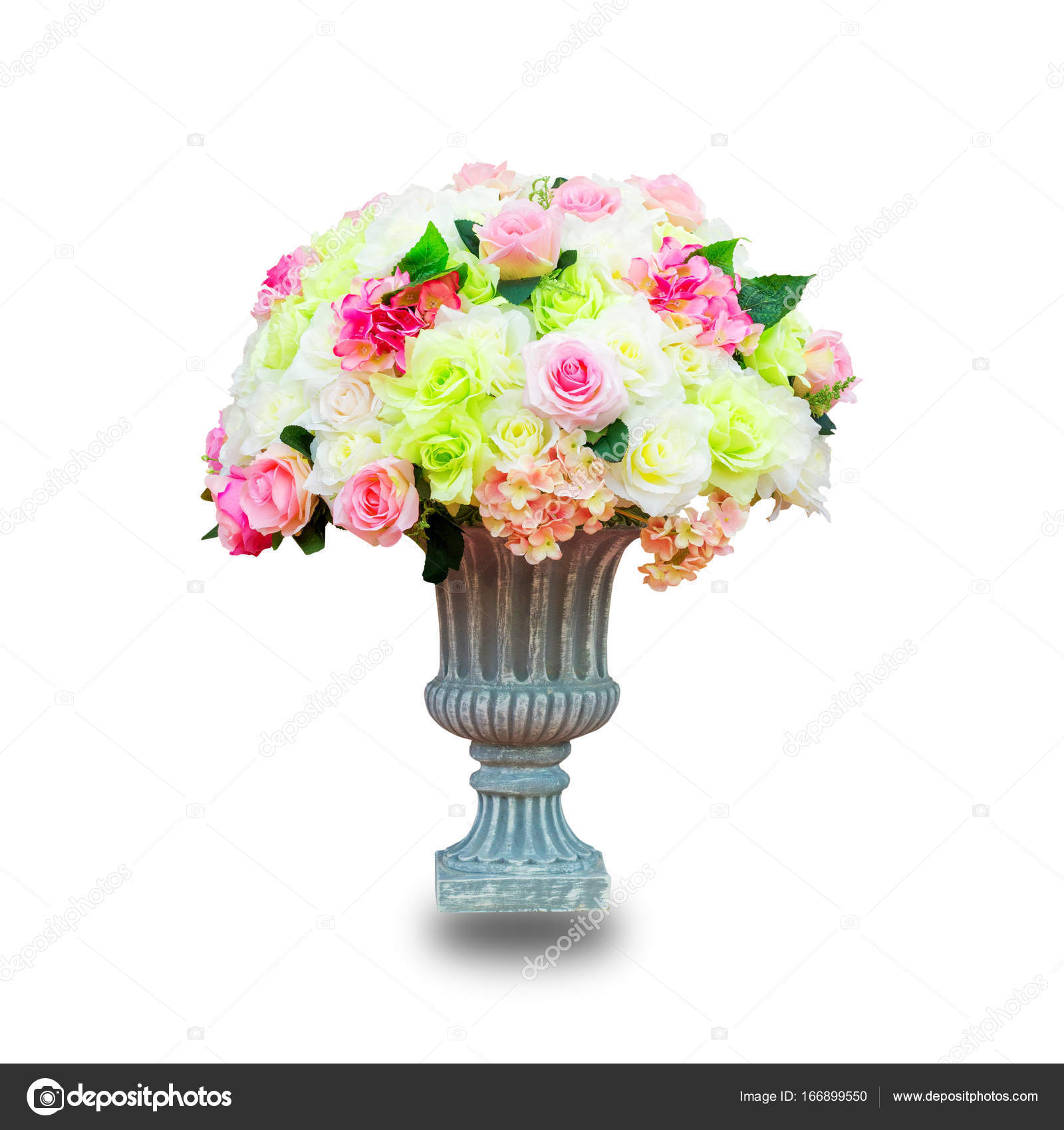 Fake Flowers Isolated On White Background This Has Clipping Pa