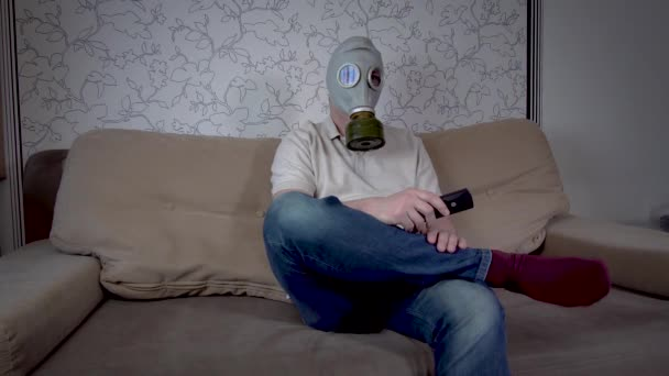 Man in gas masks