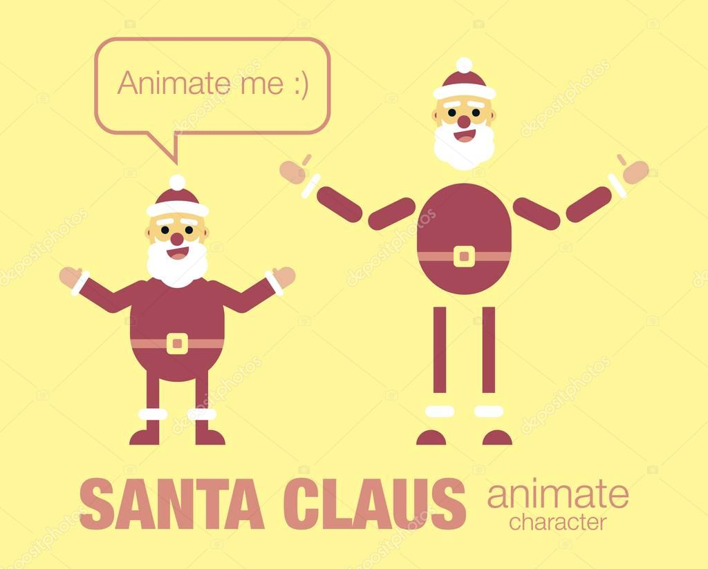 flat santa claus character for your scenes. Parts of body template ...