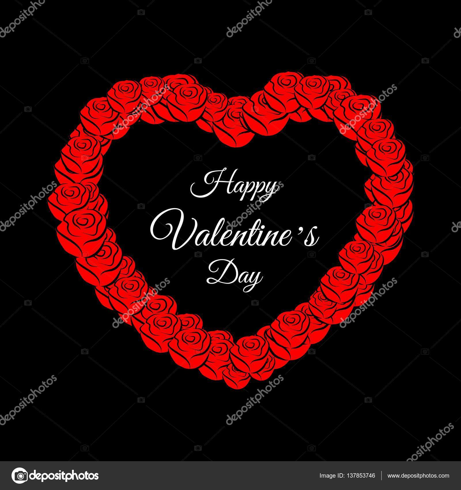 Happy Valentines Day Greeting Card Stock Vector Nairi79 137853746
