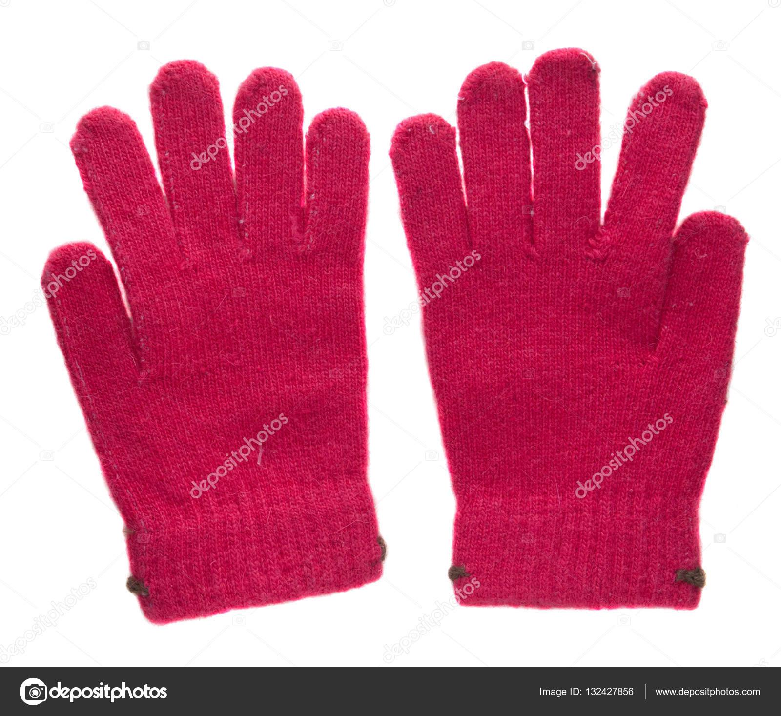 Πλεκτά γάντια. γάντια που απομονώνονται σε λευκό φόντο. γάντια τ —  Φωτογραφία Αρχείου df59b748874