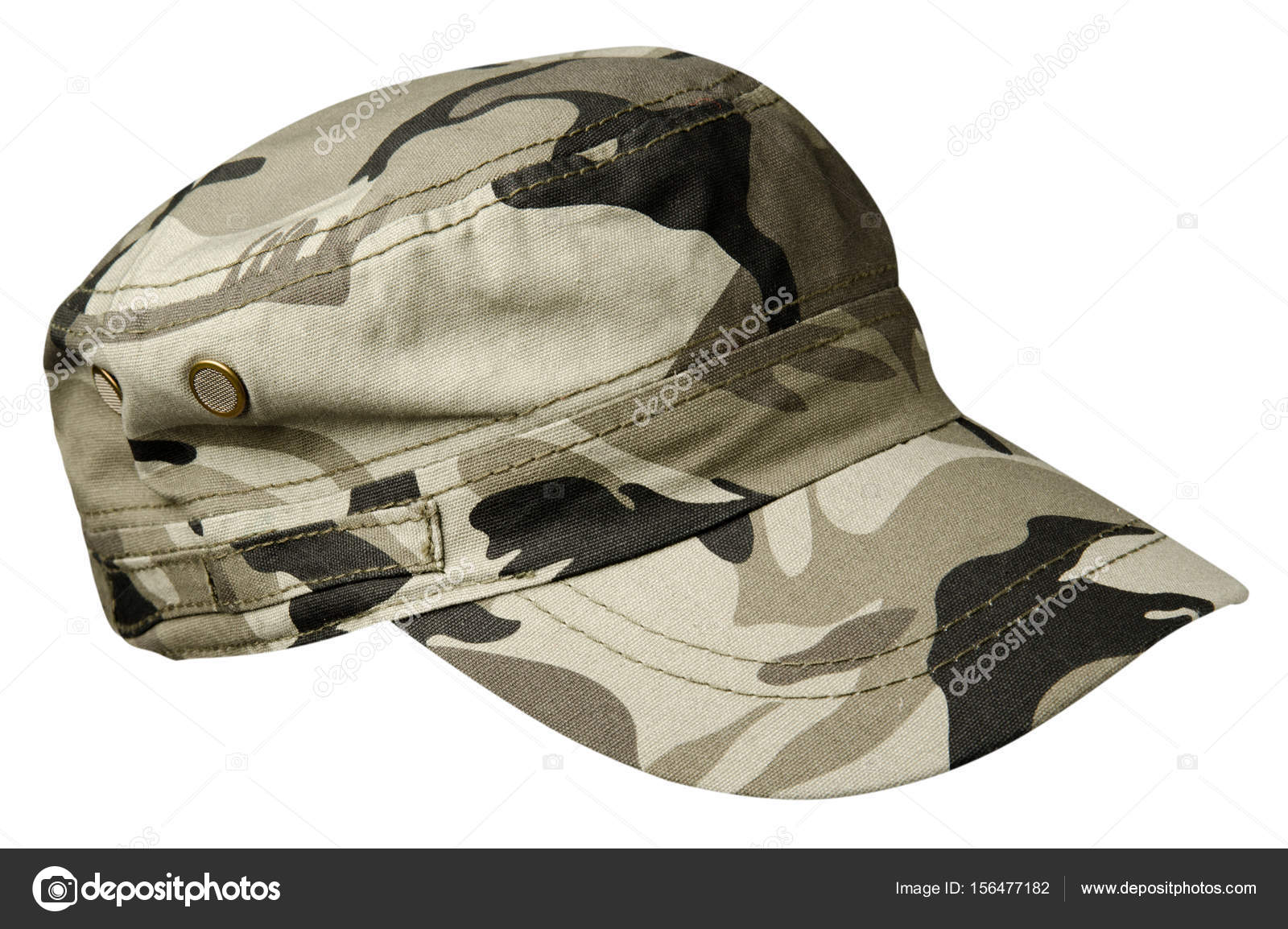 783770d5fc208f Hat isolated on white background. Hat with visor.military hat — Stock Photo