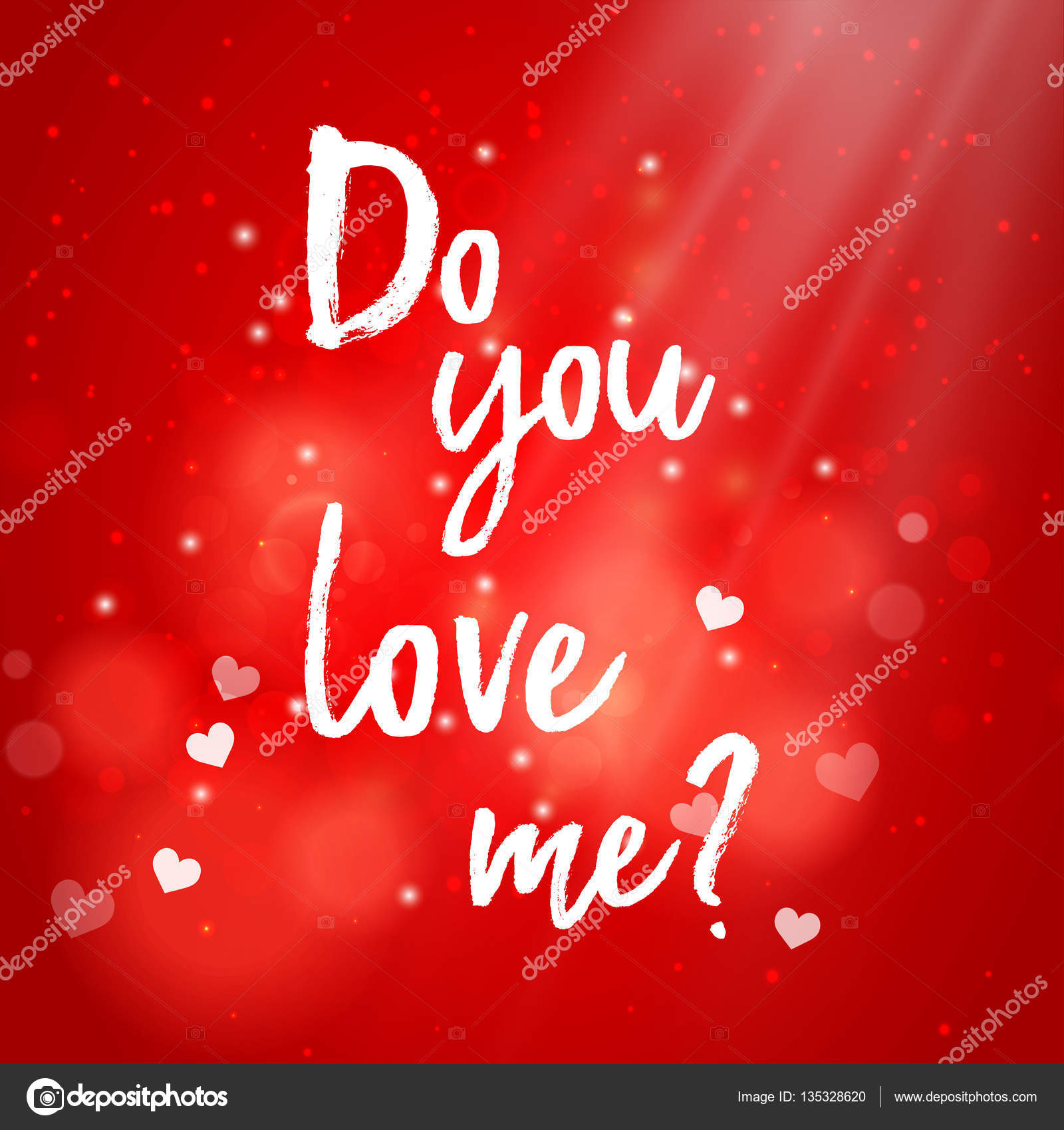 Valentines Day Greeting Card Do You Love Me Stock Vector