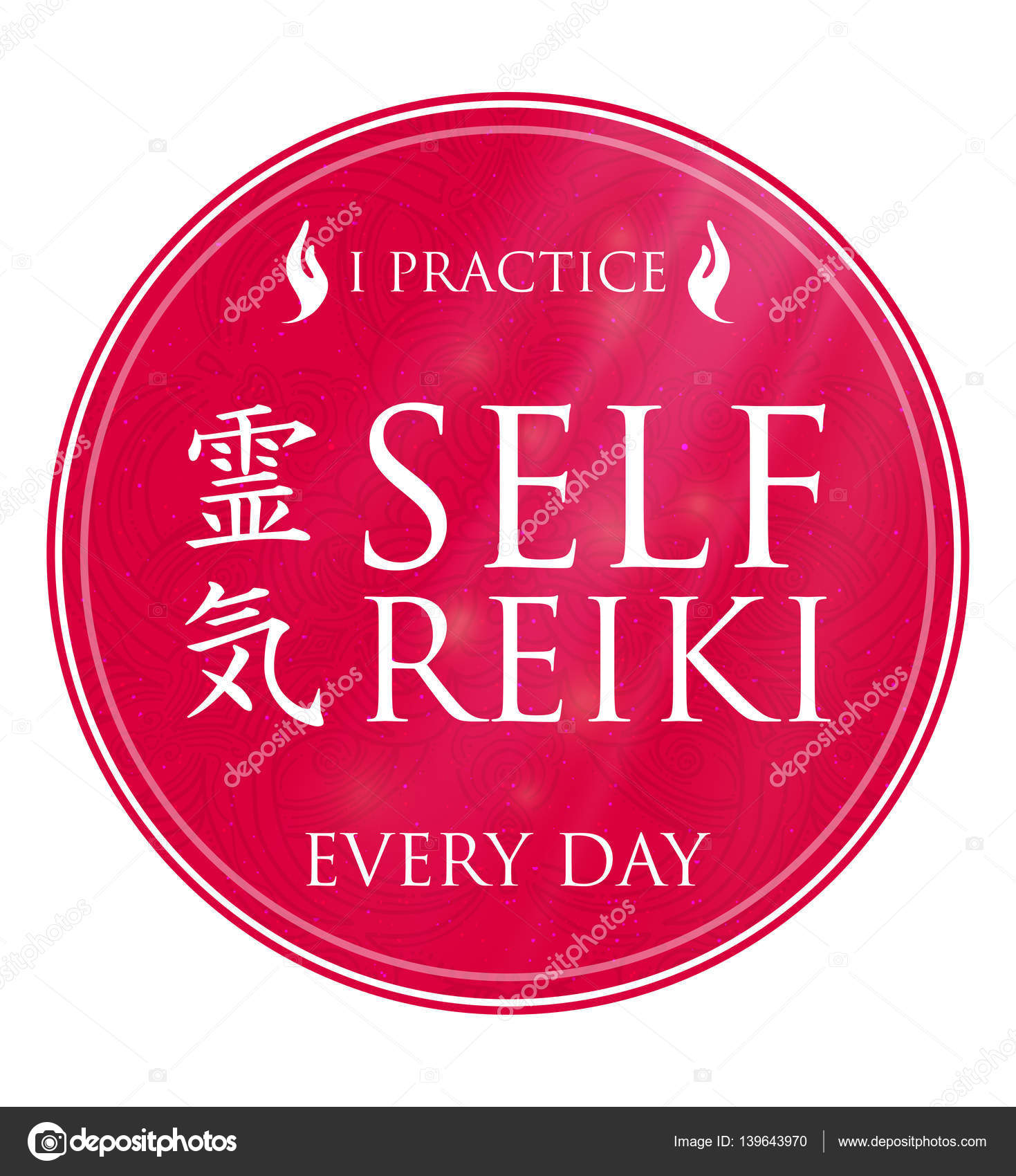 Sacred geometry reiki symbol stock vector queenann555gmail sacred geometry reiki symbol the word reiki is made up of two japanese words rei means universal ki means life force energy biocorpaavc