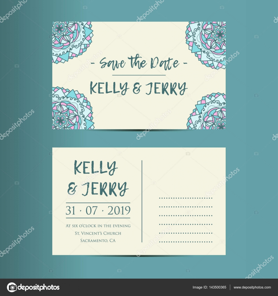 Vintage template design layout for wedding invitation stock vintage template design layout for wedding invitation stock vector stopboris Choice Image