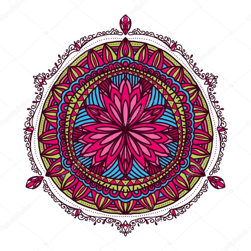 Flower Mandalas  Vintage decorative elements  Oriental