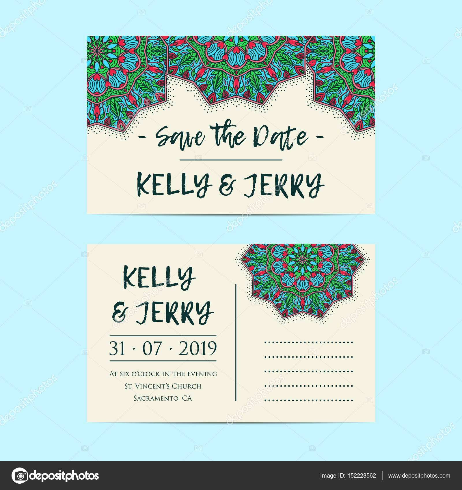 Vintage template design layout for Wedding invitation. Wedding ...