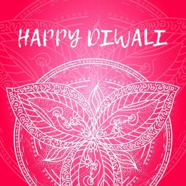 Greeting design card for Hindu community festival Happy diwali background illustration