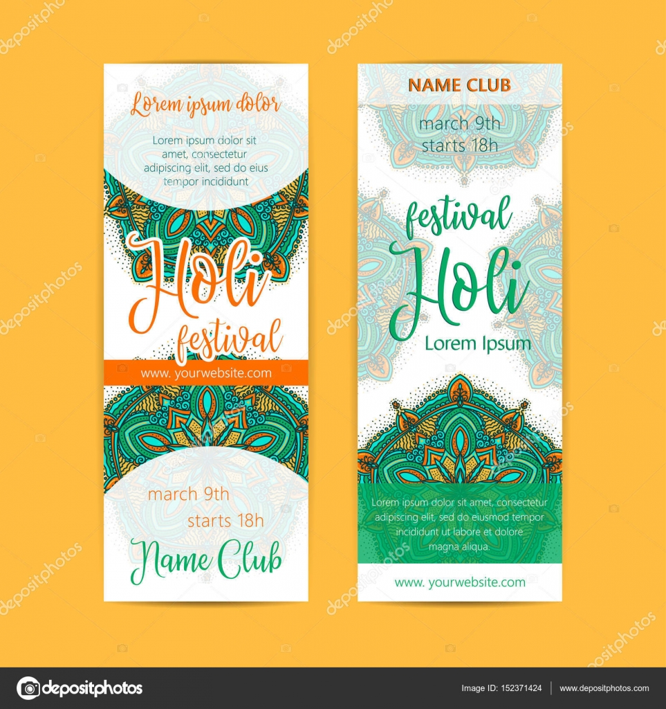Happy holi invitation template background design element with happy holi invitation template background design element with colorful holi powder paint clouds and sample text stopboris Images