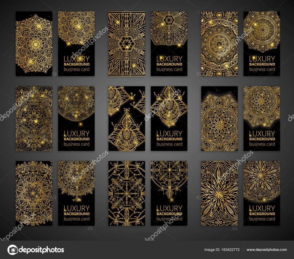 Vector vintage business cards big set. Oriental design Layout. Islam ...
